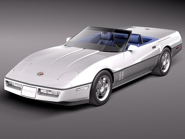 3d obj chevrolet corvette c4 convertible