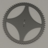 3d model clock gear wheel
