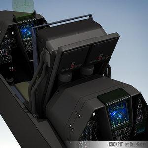 fighter cockpit 3d lwo