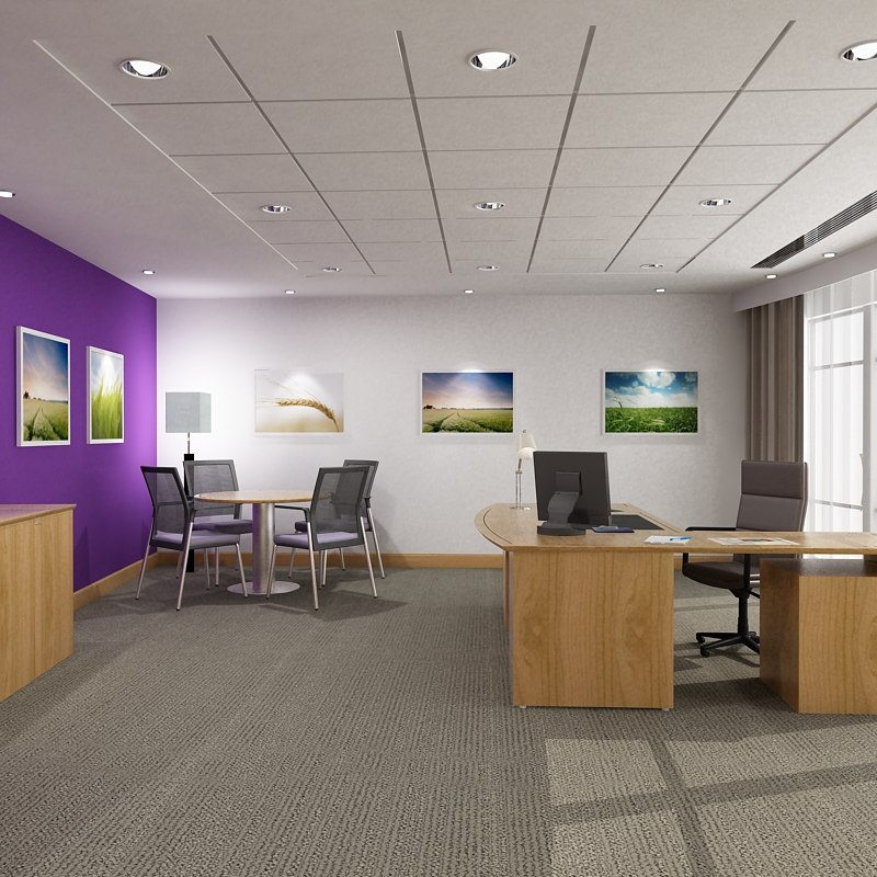 3d max office interior