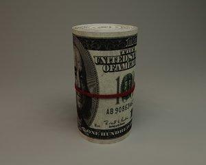 dollar roll 10 3d model