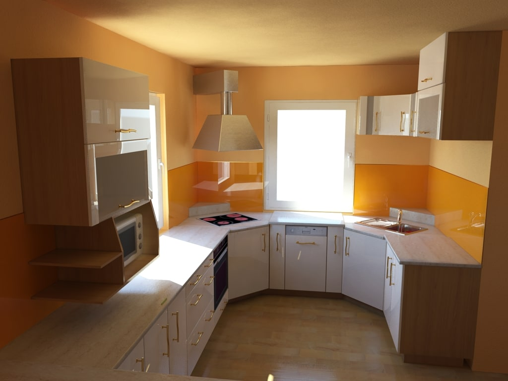 kitchen interior 3d max