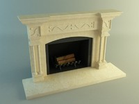 fireplace living room 3d max