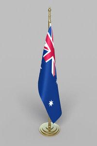 3d australia flag model