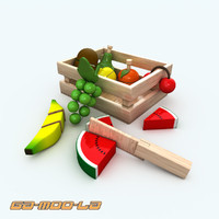 wooden toy fruits basket max