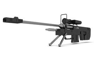3d model 8 sniper rifle