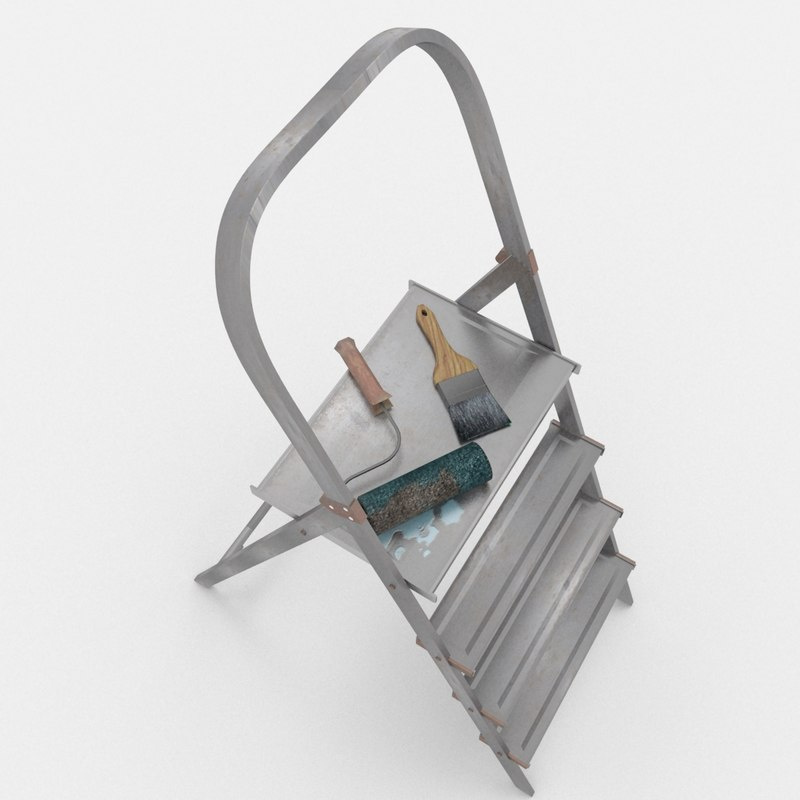 painting ladder 3d 3ds