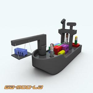 marine ship 3d max