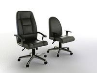 realistic office chairs 3d model