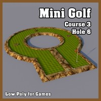 Low Poly Mini Golf Hole C3H6