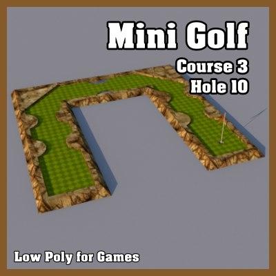 3ds max mini golf hole