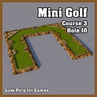 3ds max mini golf hole