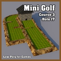 Low Poly Mini Golf Hole C3H17