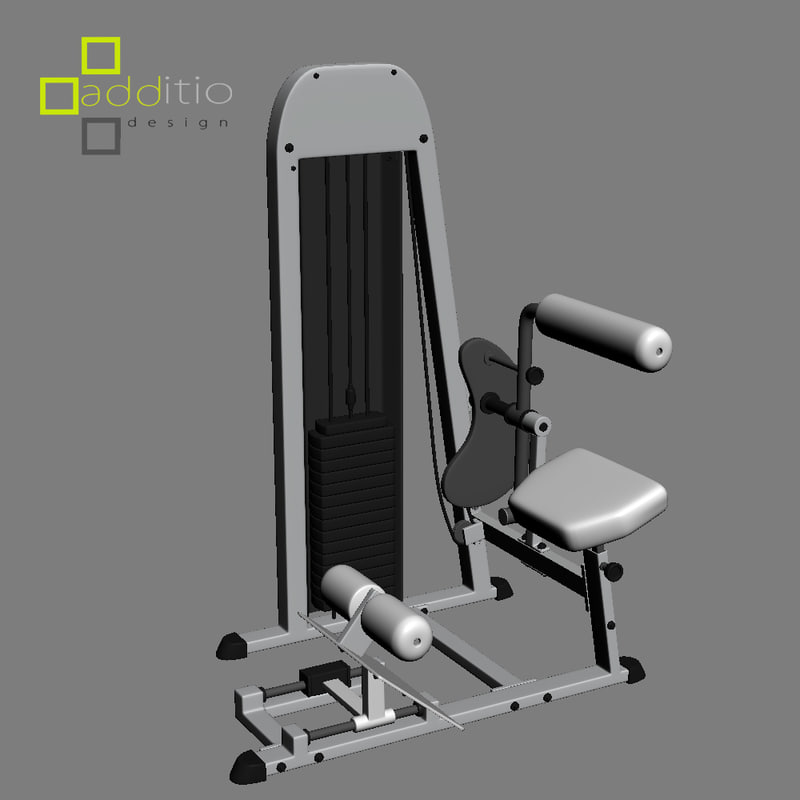3d equipment fitness model