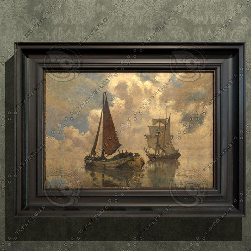3ds antique oil painting