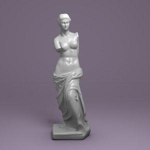 3d aphrodite scan model