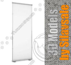 3dsmax blank white banner