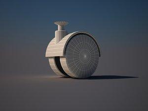 roller wheel 3d model