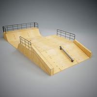 skatepark ramp 3d max