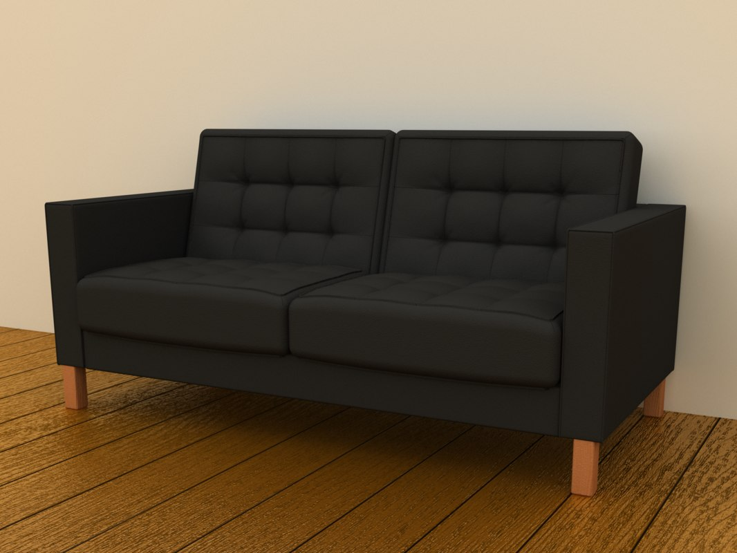 3d ikea karlstad loveseat two seat. Black Bedroom Furniture Sets. Home Design Ideas