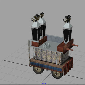 3d model cart art car