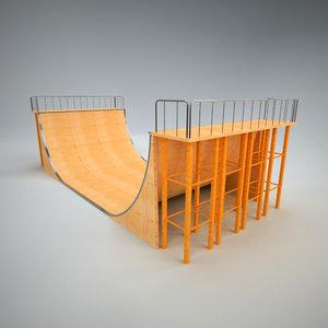 3d model skatepark ramp 1