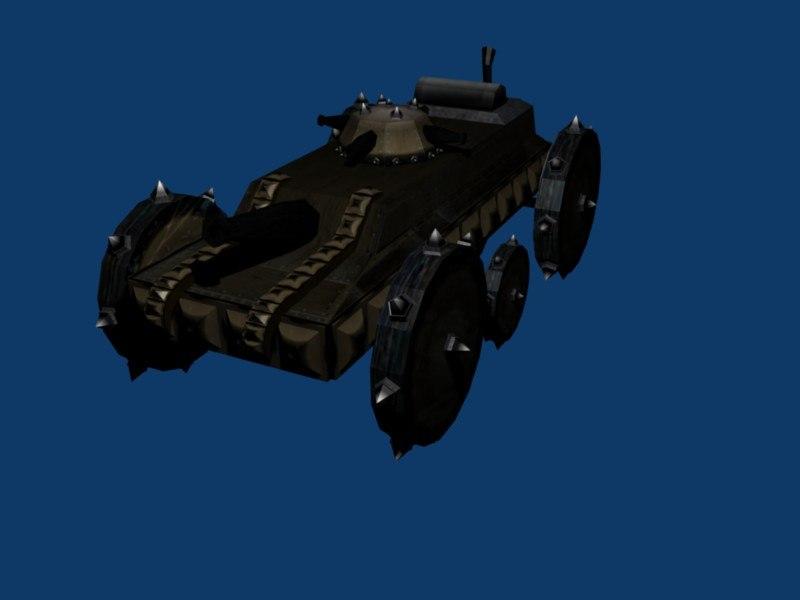 3ds max fantasy steam tank
