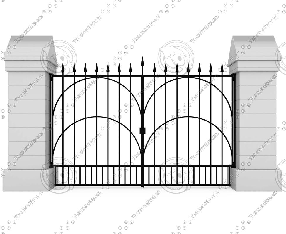3d model old gates
