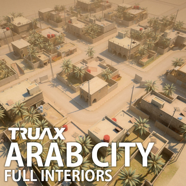 3d arab city street model