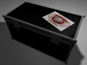 3d flight case model