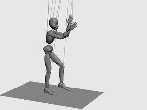 string puppet 3d model
