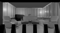 living-room walls 3d