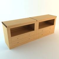cabinet details 3d 3ds