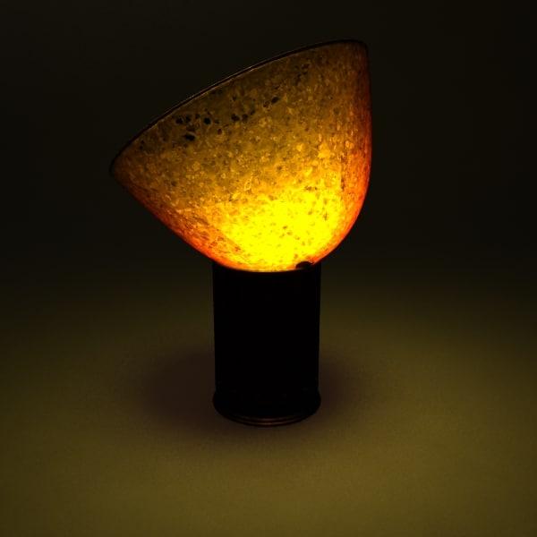 3d floor amber lamp
