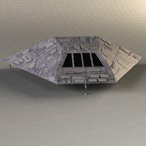 3d glass landing gear model