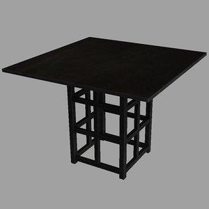 3d mackintosh table model