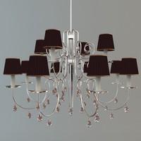 3d chandelier details model