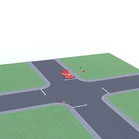 3d 4 way intersection