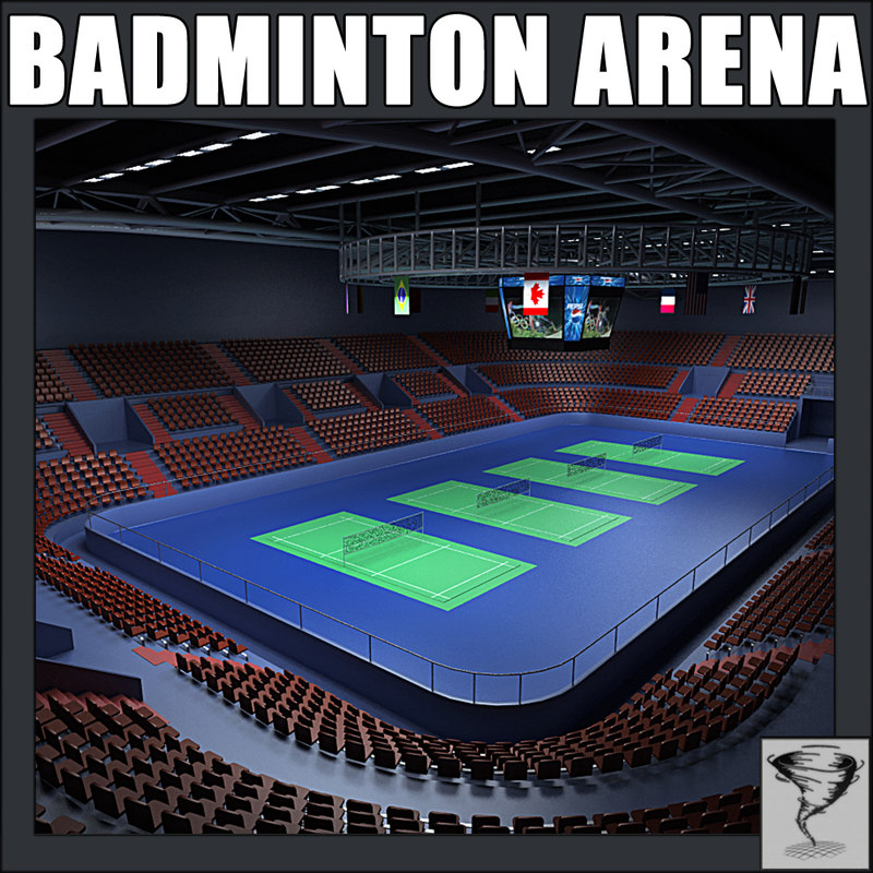 3d model badminton arena