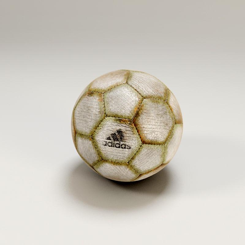 old soccer ball 3d model