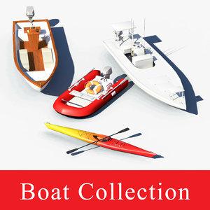 boat sea skiff 3d obj