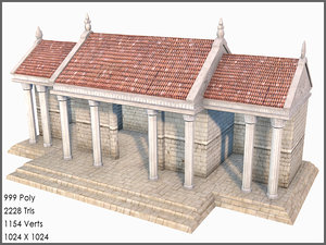 3d classic greek roman palace