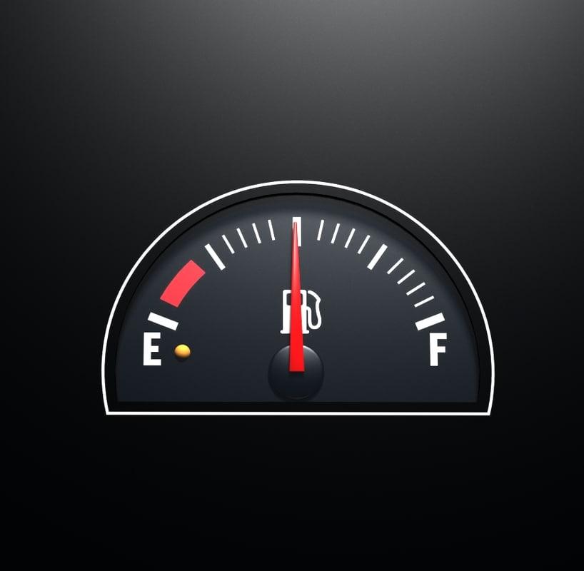 3d fuel gauge