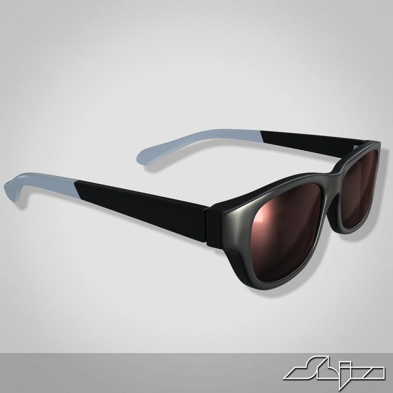 3d max glasses modeled