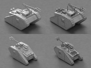 3d model goliath demolition vehicle