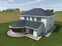 3d detached house model