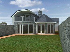 3ds max georgian terraced bungalow
