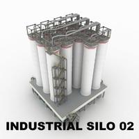 industrial silo 02 3d model