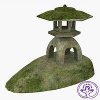 free ancient japan spirit house 3d model