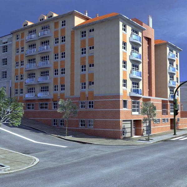 3d model street metropolitan